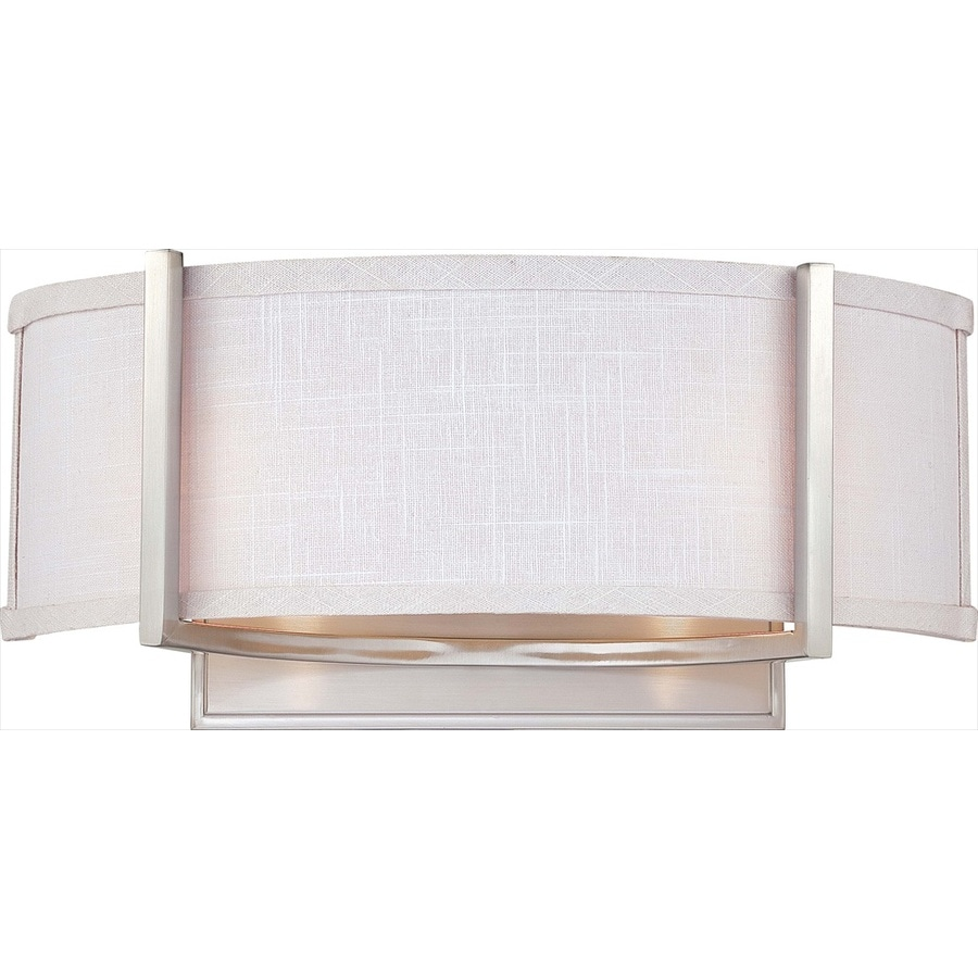 Gemini 6.5-in W 1-Light Brushed nickel Arm Wall Sconce