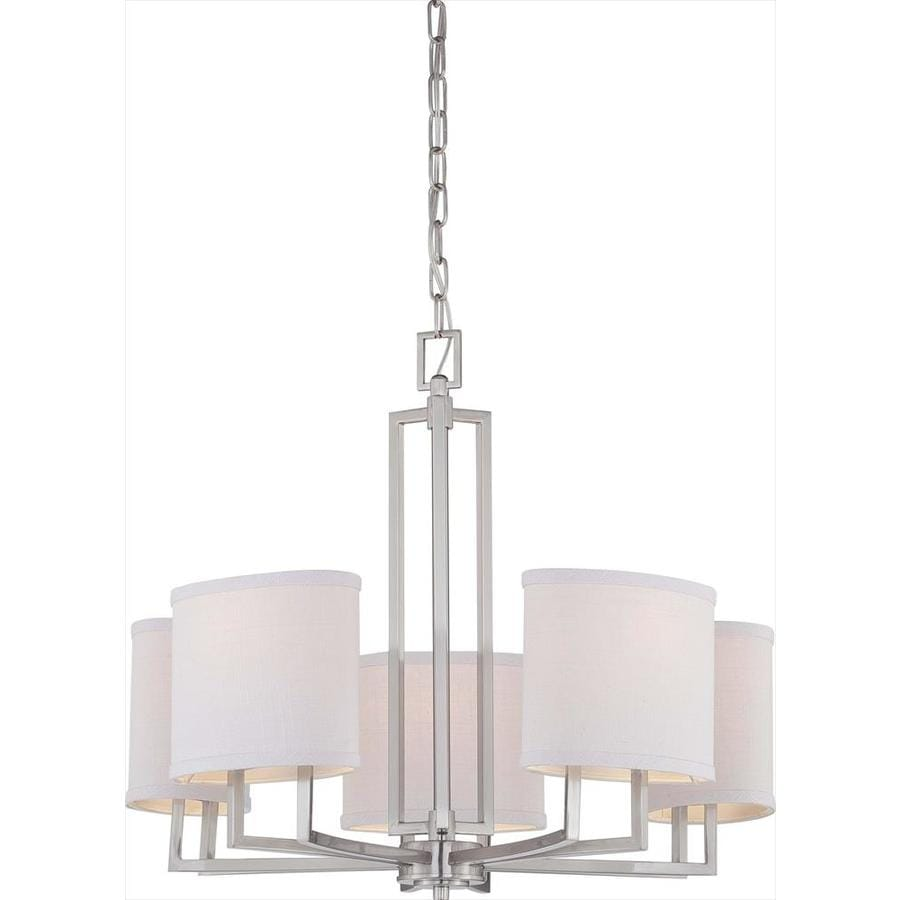 Gemini 25-in 5-Light Brushed Nickel Candle Chandelier