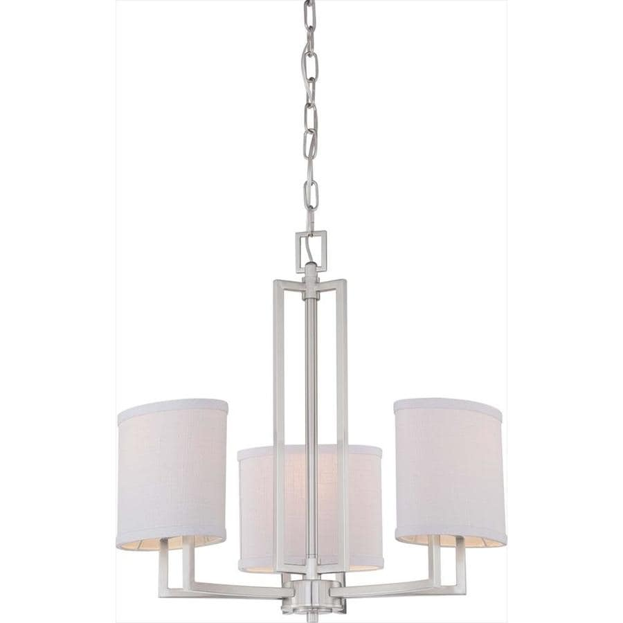 Shop Gemini 21 In 3 Light Brushed Nickel Candle Chandelier