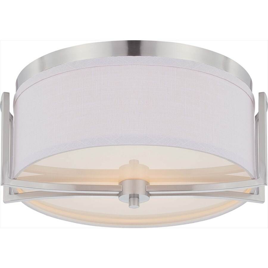 14.75-in W Brushed Nickel Ceiling Flush Mount Light