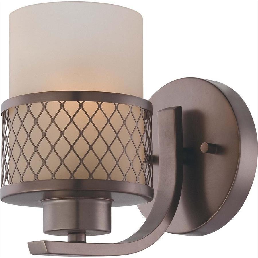 Fusion 1-Light 7.25-in Hazel bronze Vanity Light