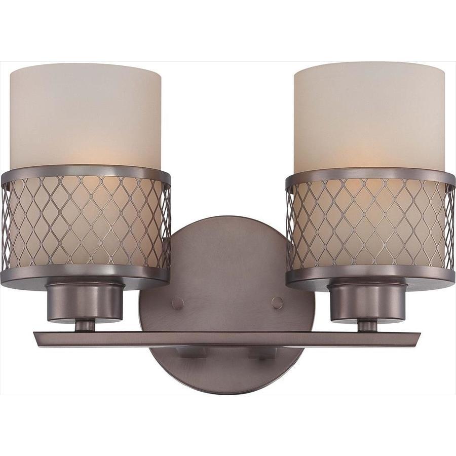 Fusion 2-Light 7.25-in Hazel bronze Vanity Light
