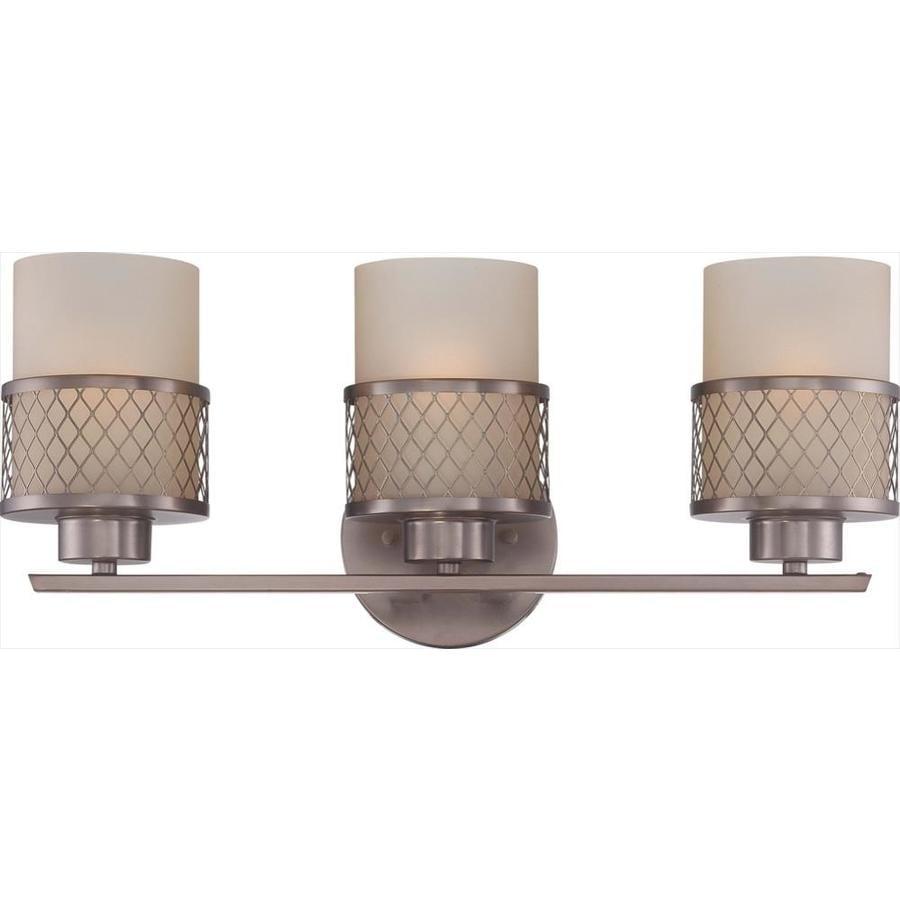 Fusion 3-Light 7.25-in Hazel bronze Vanity Light