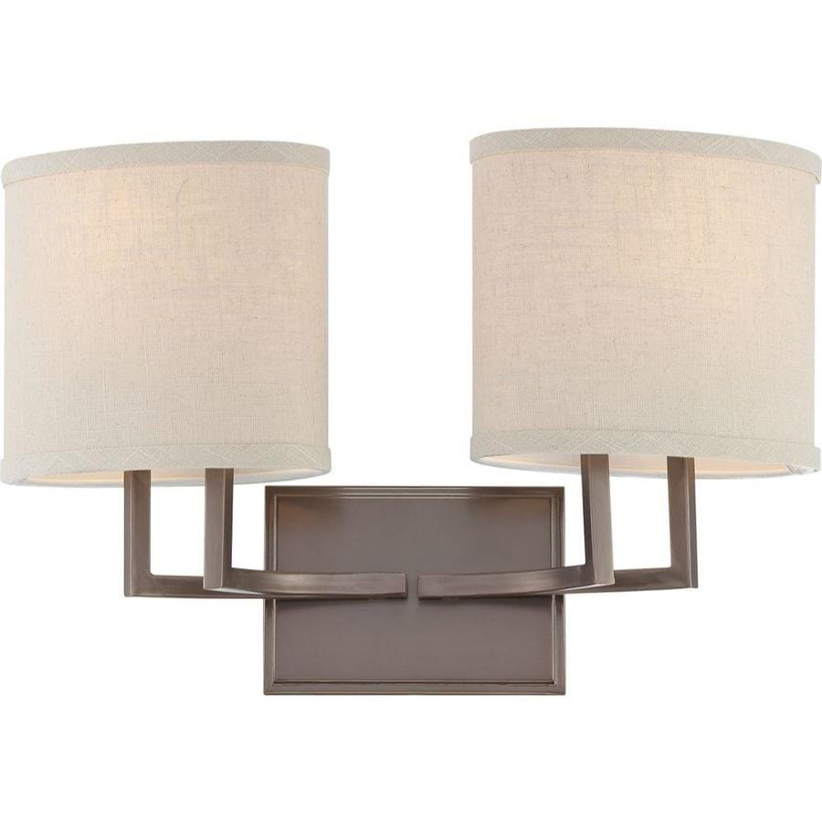 Gemini 2-Light 10.375-in Hazel bronze Vanity Light