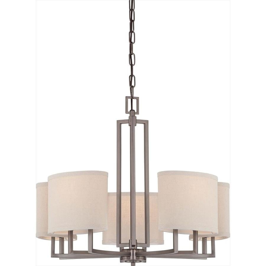 Gemini 25-in 5-Light Hazel bronze Candle Chandelier