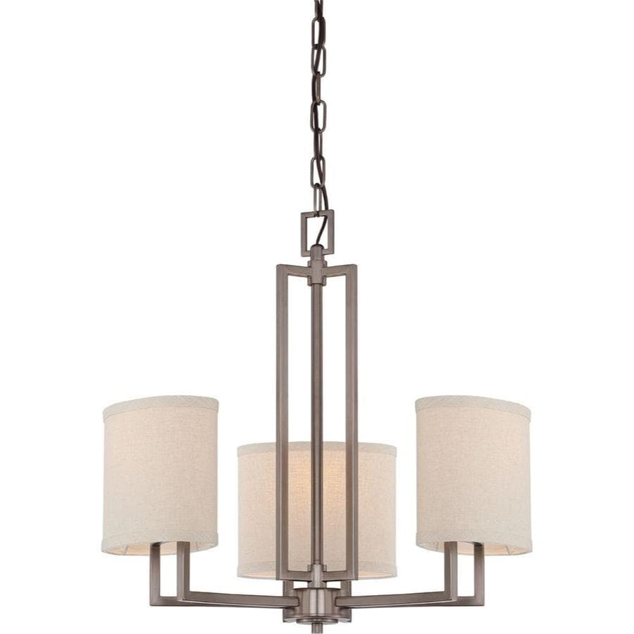Gemini 21-in 3-Light Hazel Bronze Candle Chandelier