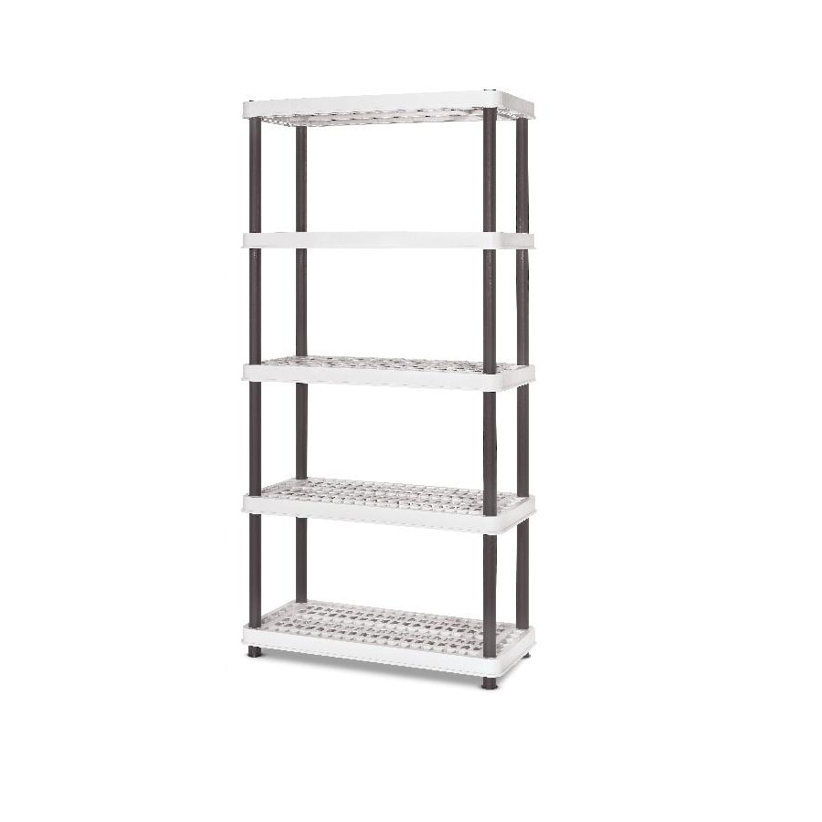 enviro elements 72-in H x 36-in W x 18-in D 5-Tier Plastic Freestanding Shelving Unit
