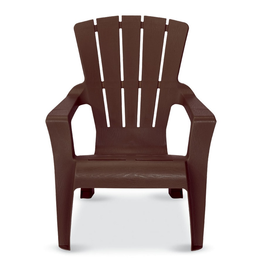 US Leisure Cappuccino Resin Stackable Adirondack Chair