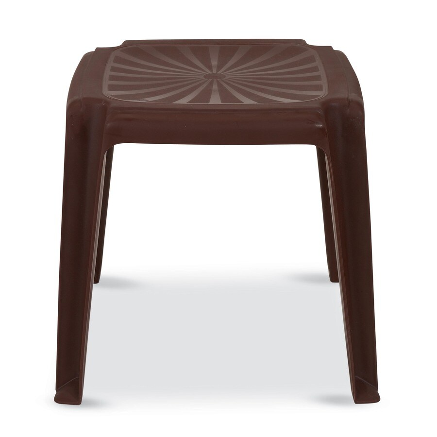 US Leisure 16-in x 16-in Cappuccino Resin Square Patio End Table