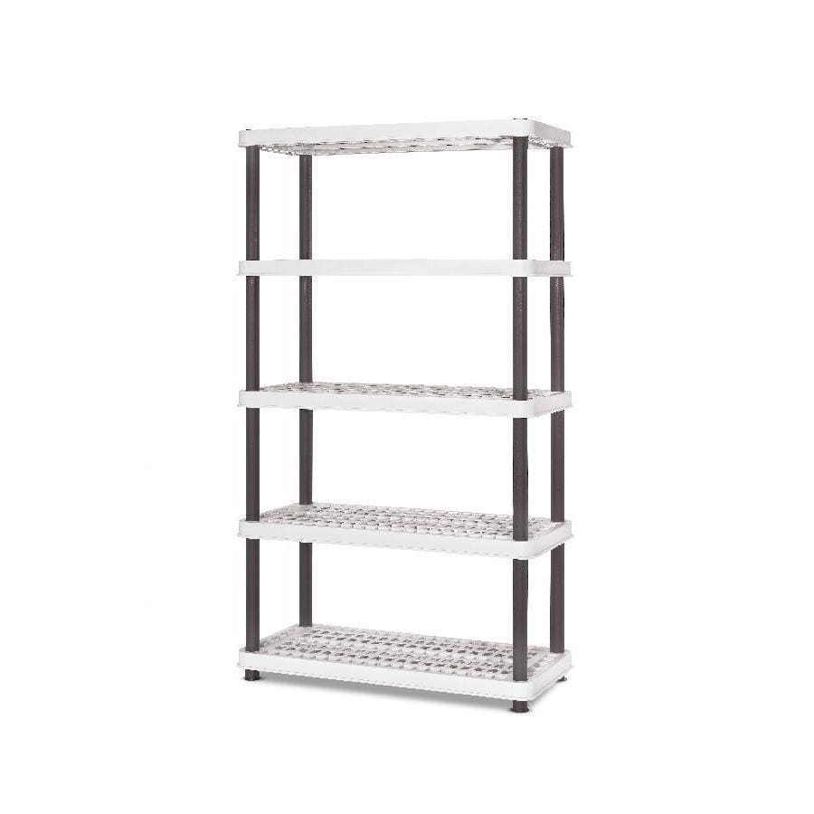 Style Selections 72-in H x 36-in W x 24-in D 5-Tier Plastic Freestanding Shelving Unit
