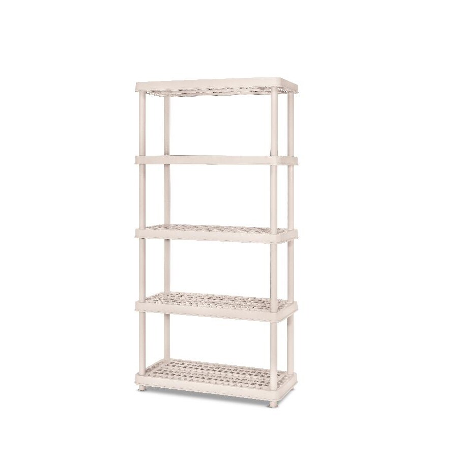 Real Organized 72-in H x 36-in W x 18-in D 5-Tier Plastic Freestanding Shelving Unit