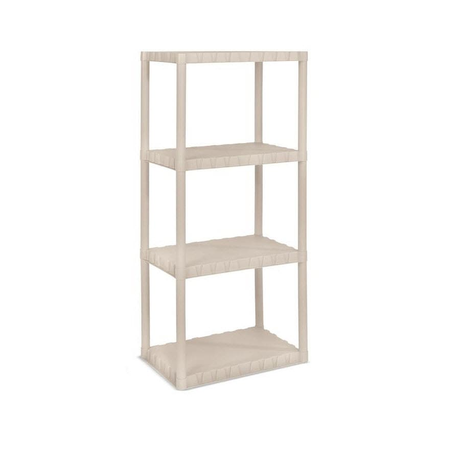 Blue Hawk 49.7-in H x 22-in W x 14-in D 4-Tier Plastic Freestanding Shelving Unit