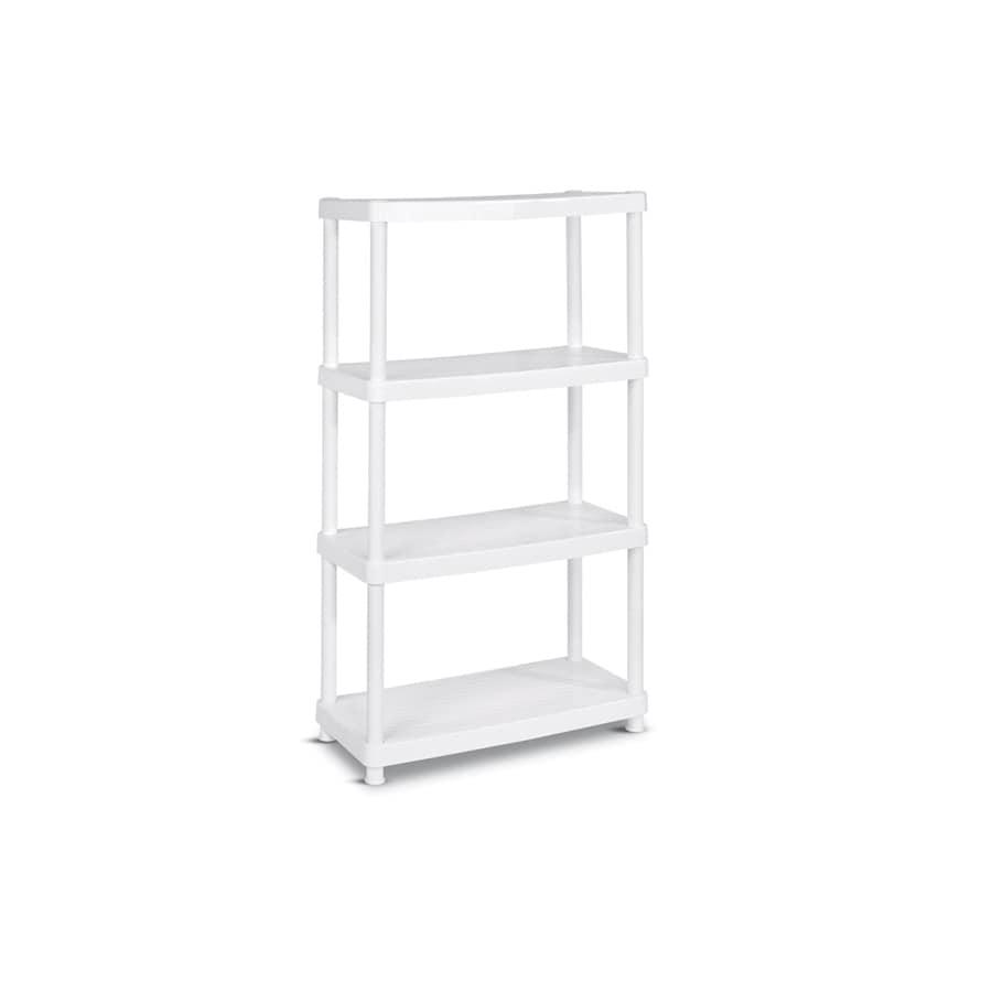 enviro elements 55-in H x 34-in W x 16-in D 4-Tier Plastic Freestanding Shelving Unit