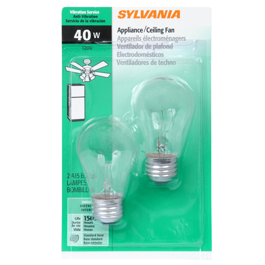 Shop SYLVANIA 2-Pack 40-Watt Dimmable Soft White A15 Incandescent ...