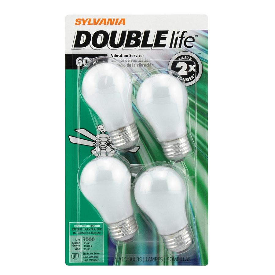 SYLVANIA 4-Pack 60 Watt Indoor Dimmable Soft White A15 Incandescent Light Fixture Light Bulbs