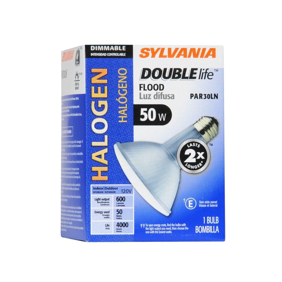 SYLVANIA 50 Watt Dimmable Warm White Par 30 Longneck Halogen Flood Light Bulb