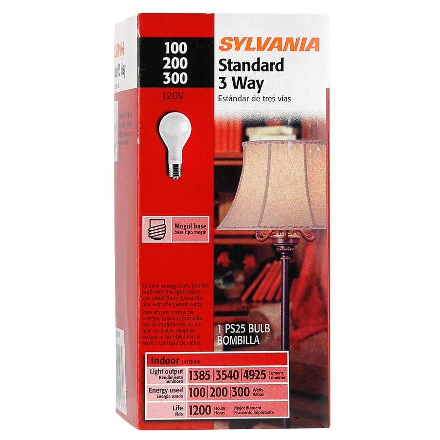 SYLVANIA 300 Watt Indoor Soft White 3-Way Bulb Ps Incandescent Light Fixture Light Bulb