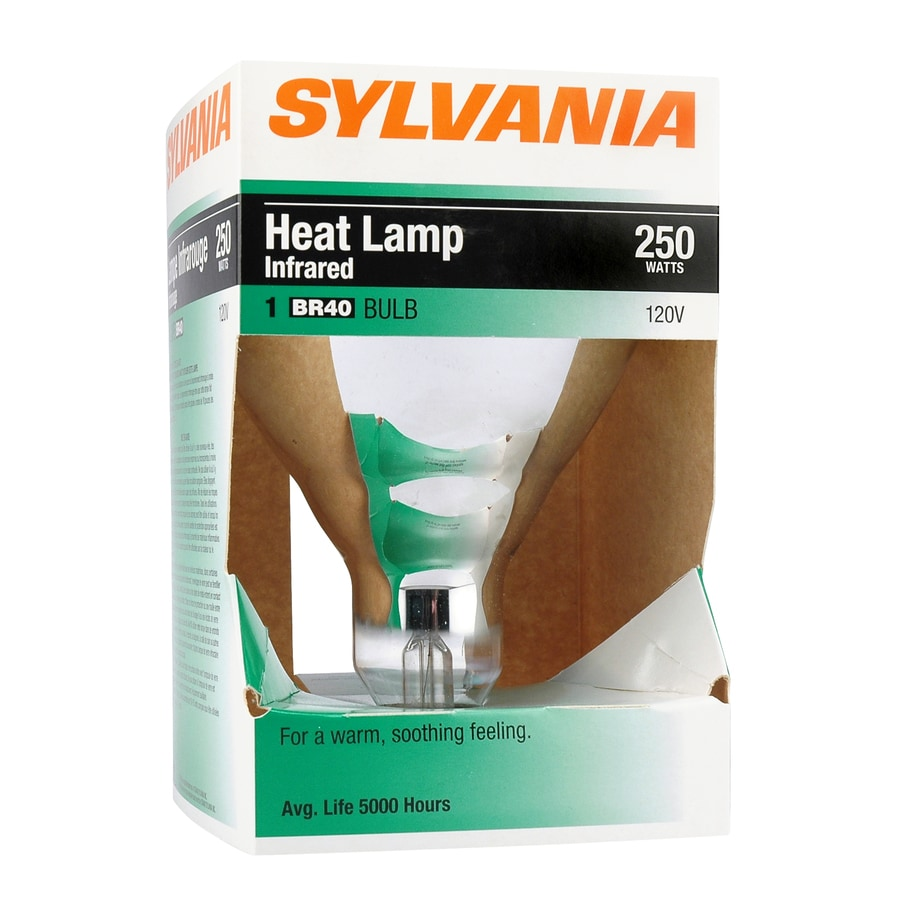 SYLVANIA 250 Watt Indoor Dimmable Soft White Br40 Incandescent Heat Lamp Light Bulb