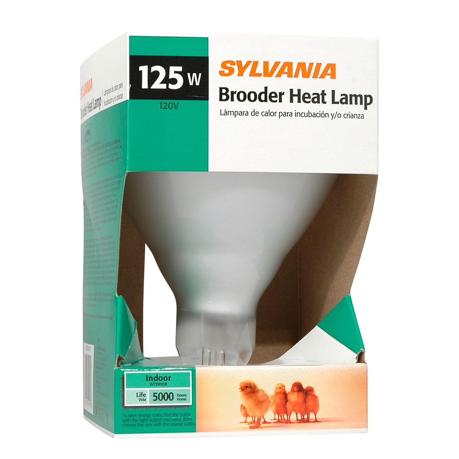 SYLVANIA 125 Watt Indoor Dimmable Soft White Br40 Incandescent Heat Lamp Light Bulb