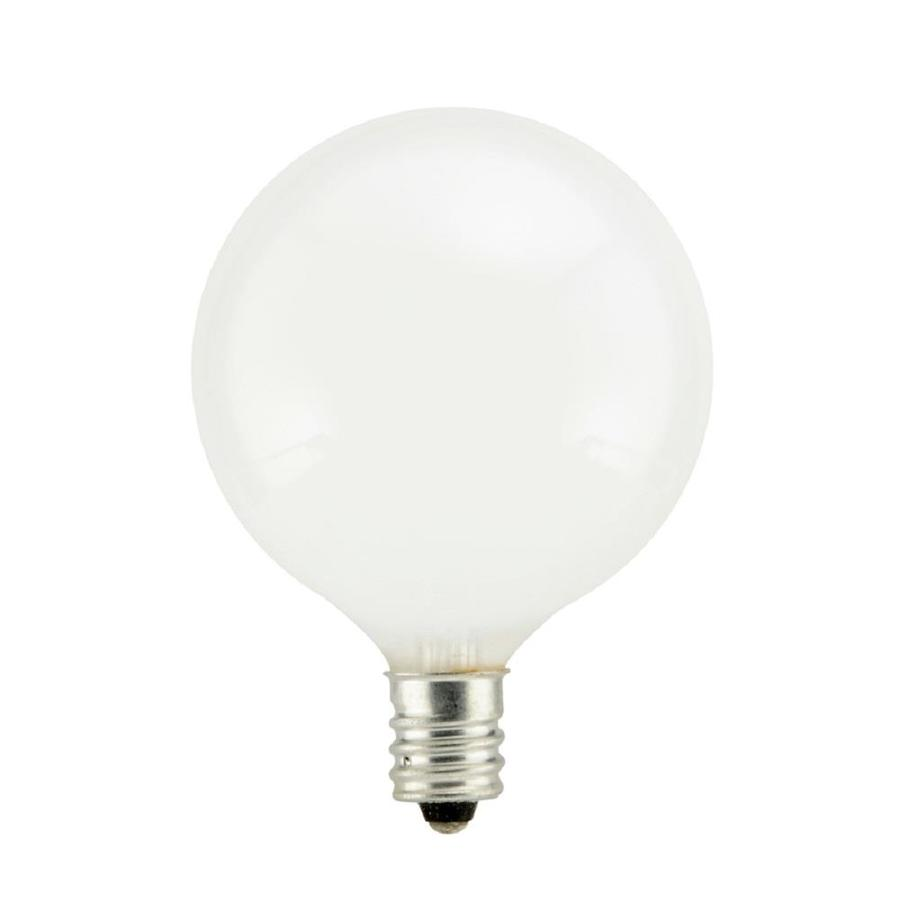 SYLVANIA 2-Pack 40-Watt Dimmable Soft White G16.5 Incandescent Decorative Light Bulb