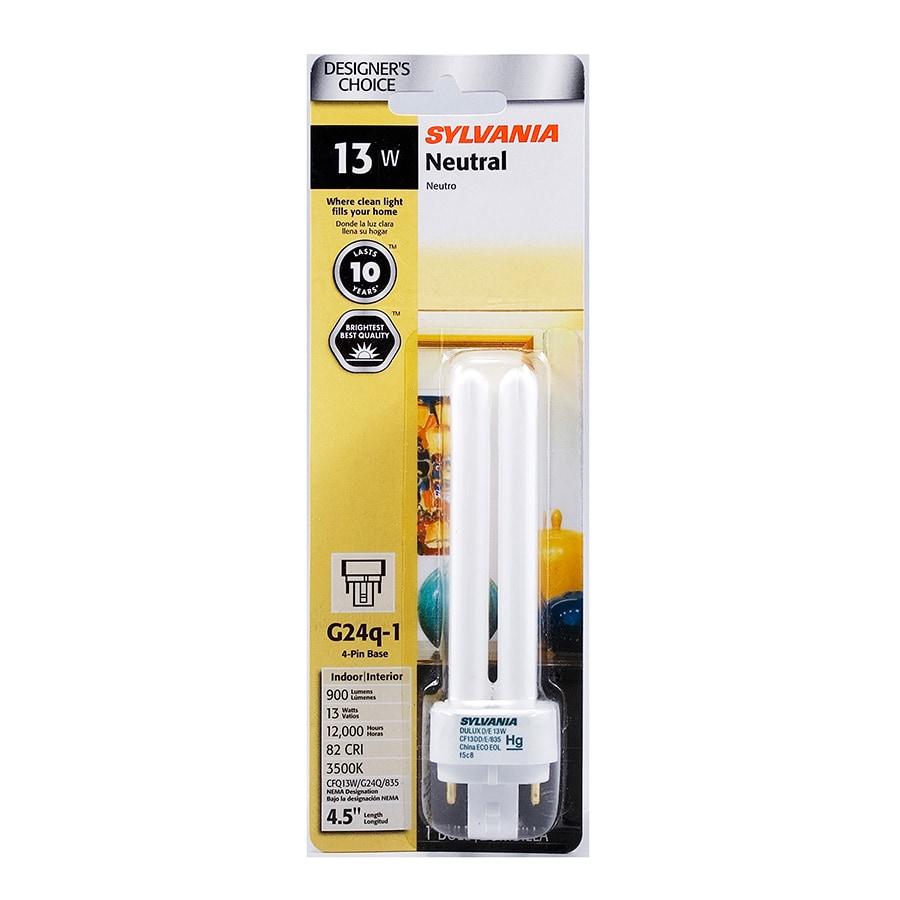 SYLVANIA 60 W Equivalent Bright White Double Tube CFL Light Fixture Light Bulb