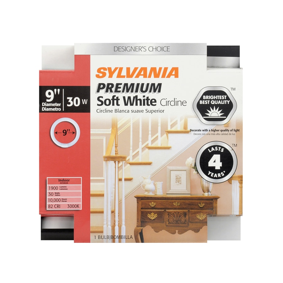 SYLVANIA 30-Watt 3000K Warm White Circline Dimmable Fluorescent Tube Light Bulb (Common: 9-in; Actual: 9-in)