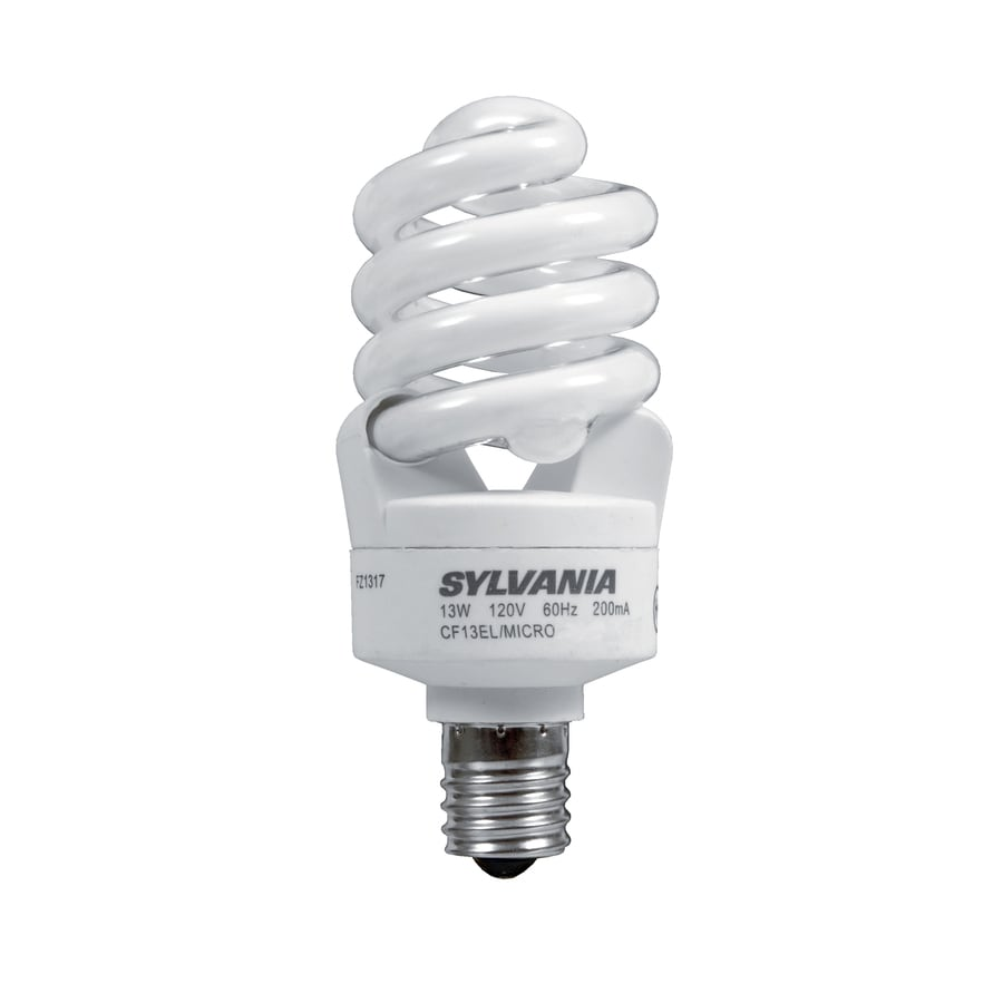 SYLVANIA 60 W Equivalent Daylight A19 CFL Light Fixture Light Bulb