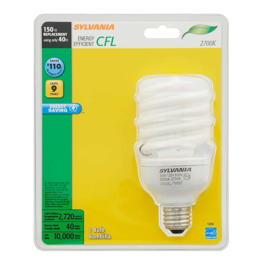 SYLVANIA 150 W Equivalent Soft White A21 CFL Light Fixture Light Bulb