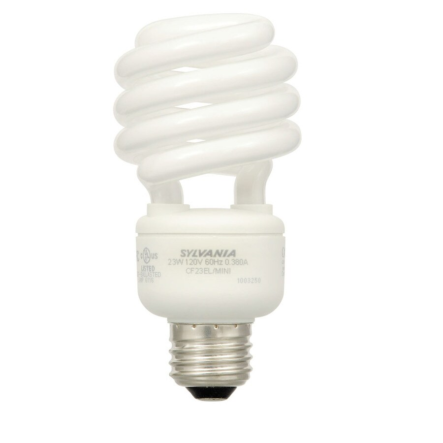 SYLVANIA 6-Pack 23-Watt (100W Equivalent) Spiral Medium Base Warm White CFL Bulbs