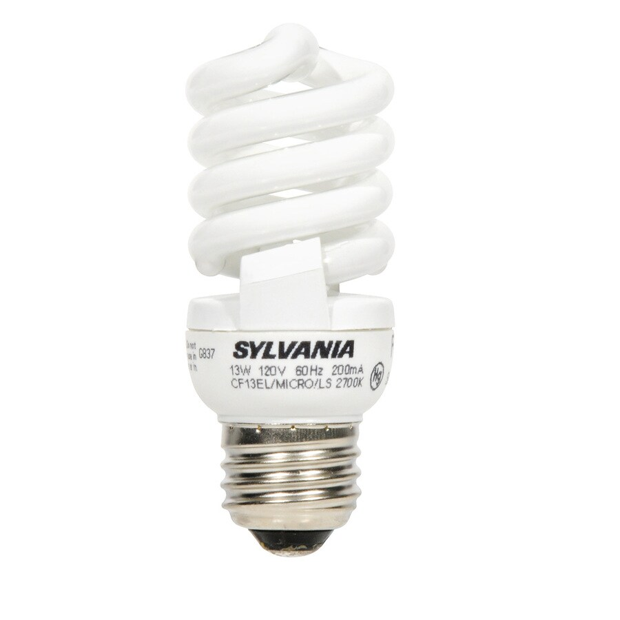 Shop Sylvania 12 Pack 60 W Equivalent Soft White Cfl Light Fixture Light Bulbs At