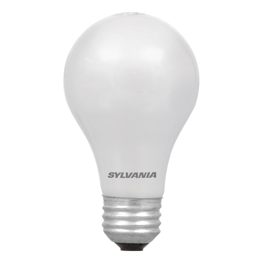 Shop sylvania 4 pack 43 watt dimmable soft white a19 halogen light fixture light bulbs at Sylvania bulb