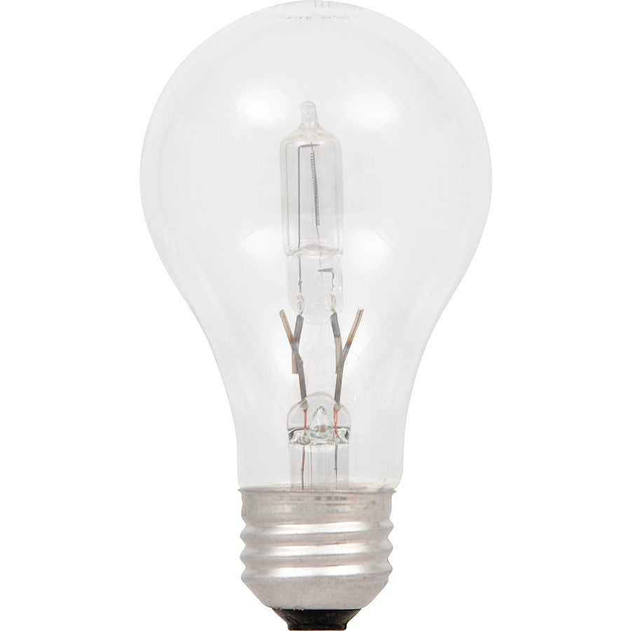 Shop sylvania 2 pack 28 watt dimmable warm white a19 halogen light fixture light bulb at The light bulb store