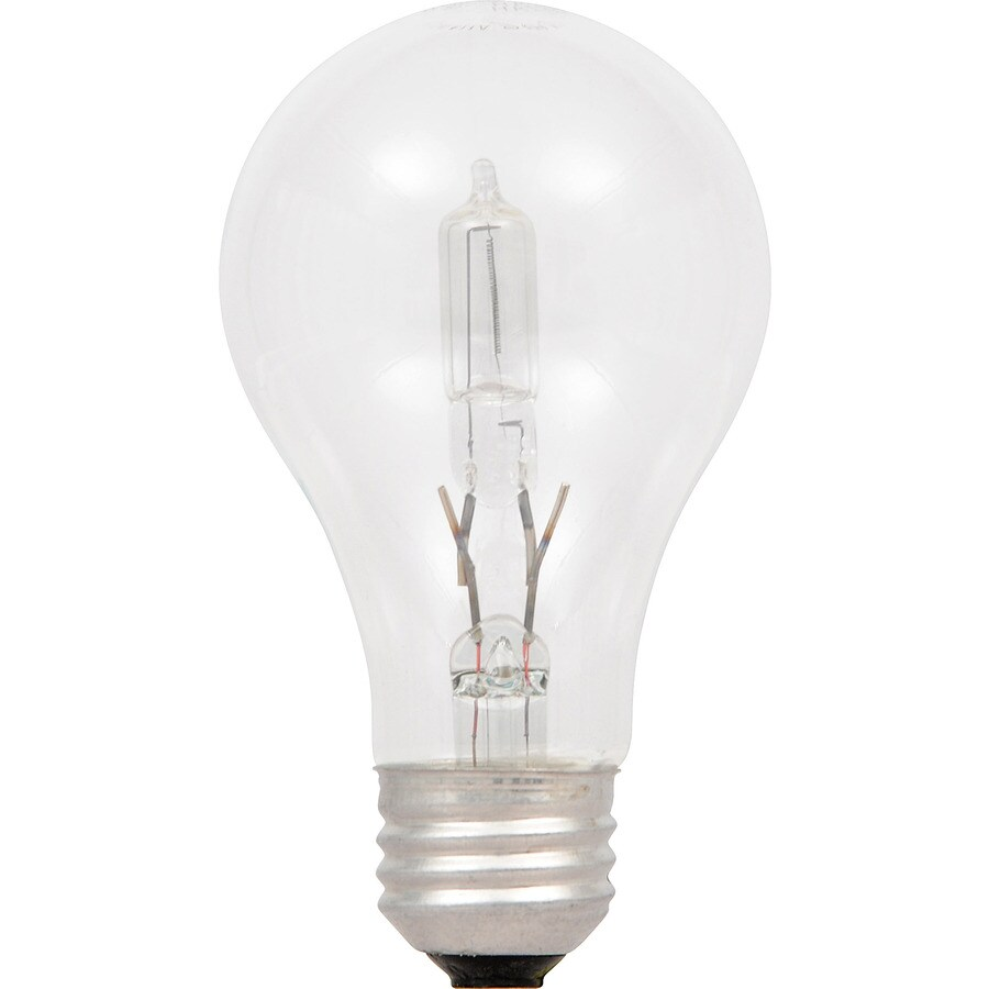SYLVANIA 2-Pack 53 Watt Dimmable Warm White A19 Halogen Light Fixture Light Bulbs