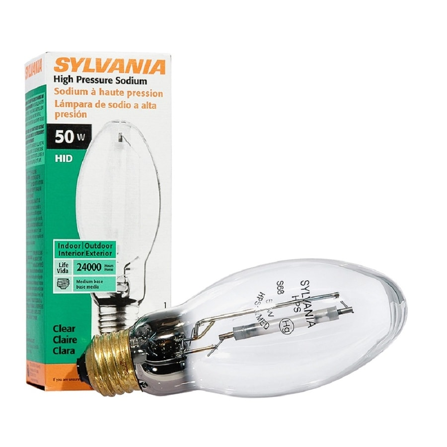 SYLVANIA 50-Watt 1,900K ED17 Medium Base (E-26) High-Pressure Sodium HID Light Bulb