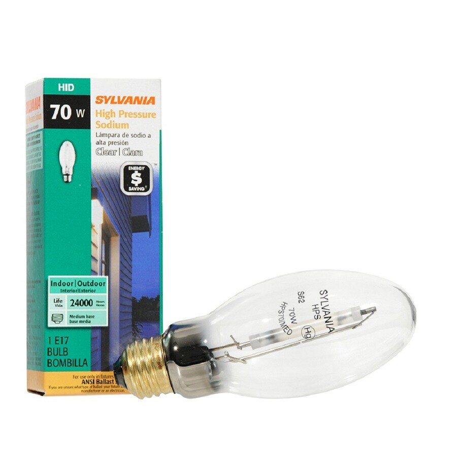 SYLVANIA 70-Watt 1,900K E17 Medium Base (E-26) High-Pressure Sodium HID Light Bulb
