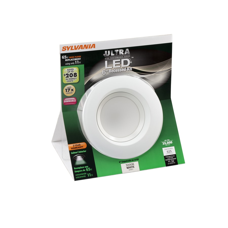 SYLVANIA White LED Remodel and New Construction Recessed Light Kit (Fits Opening: 6-in)