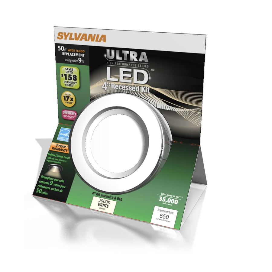shop sylvania white 4 in led remodel recessed ceiling light kit at