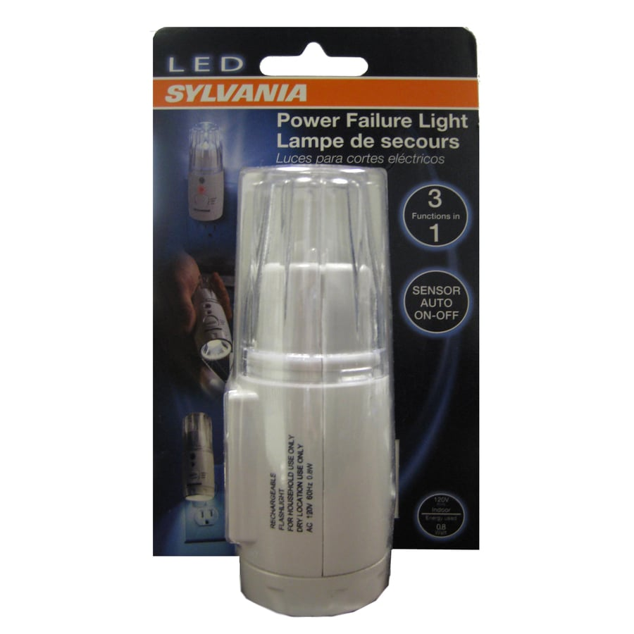 SYLVANIA White LED Night Light with Auto On/Off