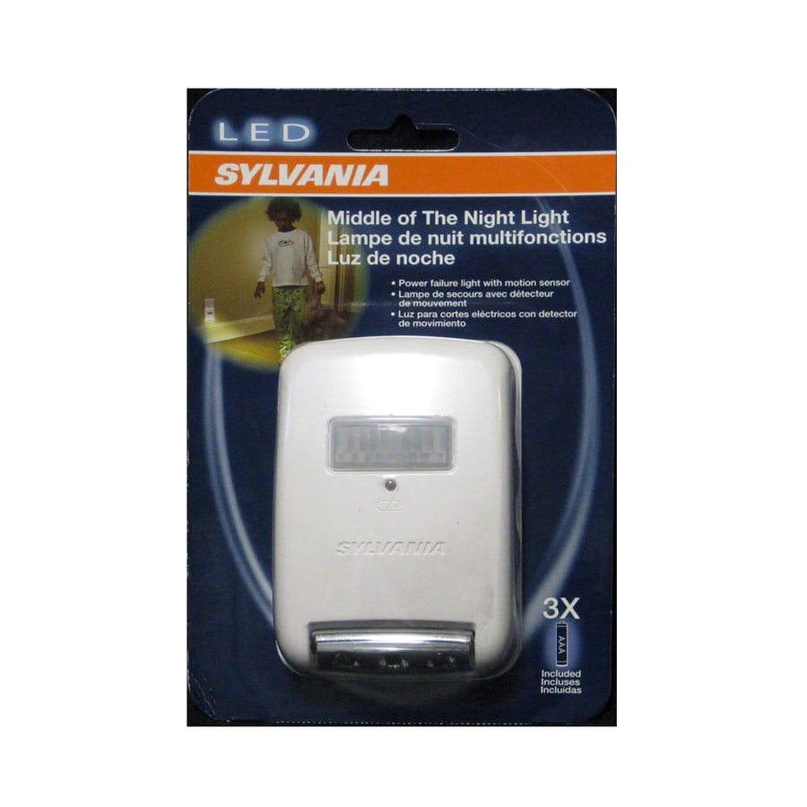 SYLVANIA White LED Night Light with Motion Sensor Auto On/Off