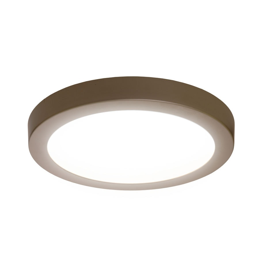 Shop flush mount lights at lowes sylvania 15 in w brushed nickel led flush mount light mozeypictures Images