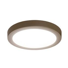 Led Flush Ceiling Lights: SYLVANIA 15-in W Brushed Nickel LED Flush Mount Light,Lighting
