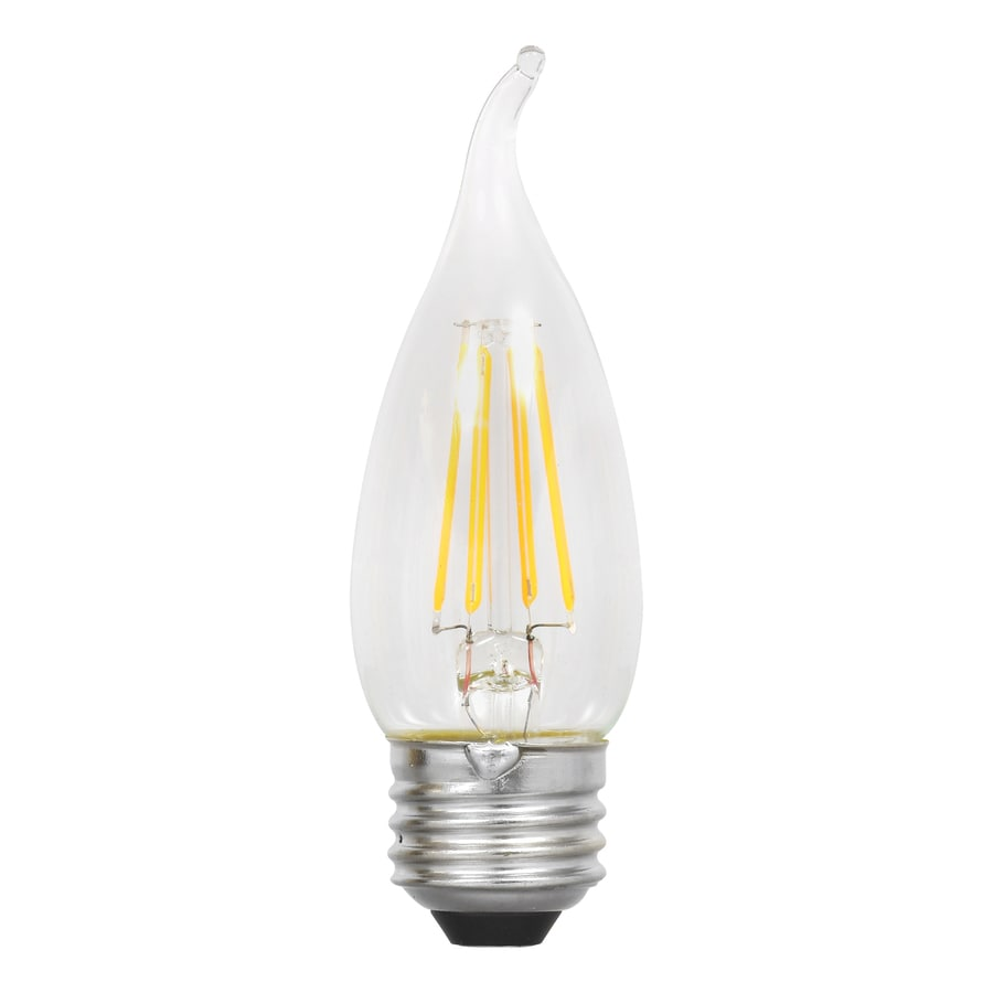 SYLVANIA Ultra 4-Pack 40 W Equivalent Dimmable Soft White B10 LED Light Fixture Light Bulbs