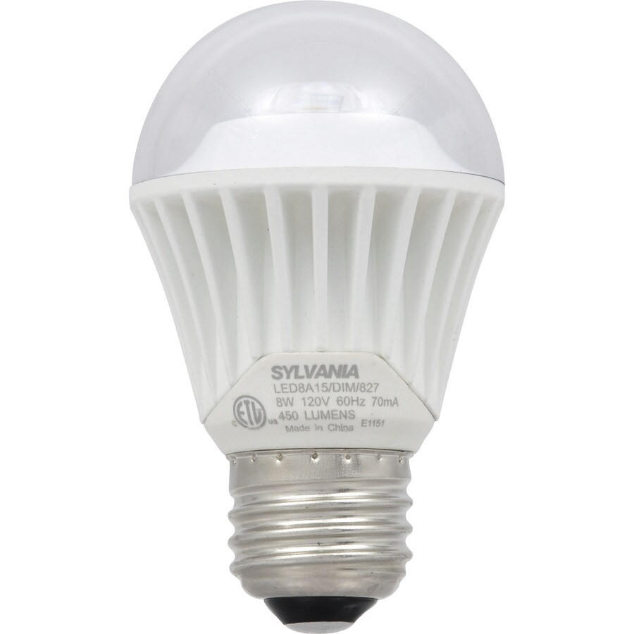 SYLVANIA 40W Equivalent Dimmable Soft White A15 LED Light Fixture Light Bulb