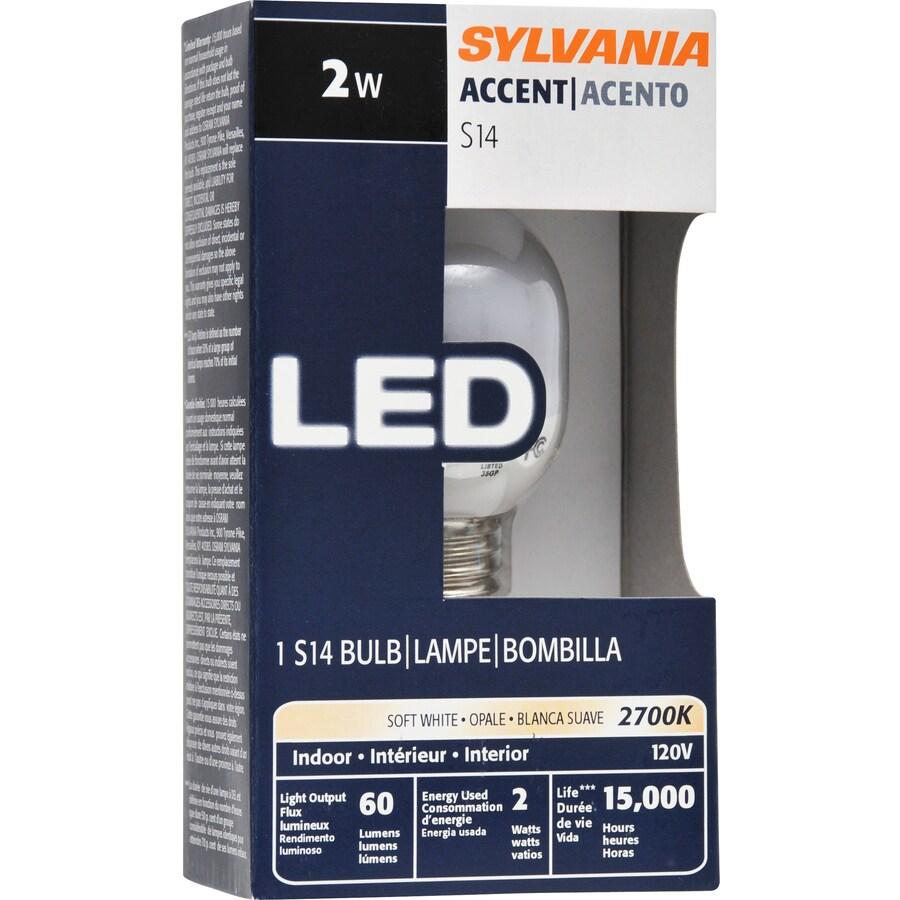 SYLVANIA 10W Equivalent Soft White S14 LED Light Fixture Light Bulb