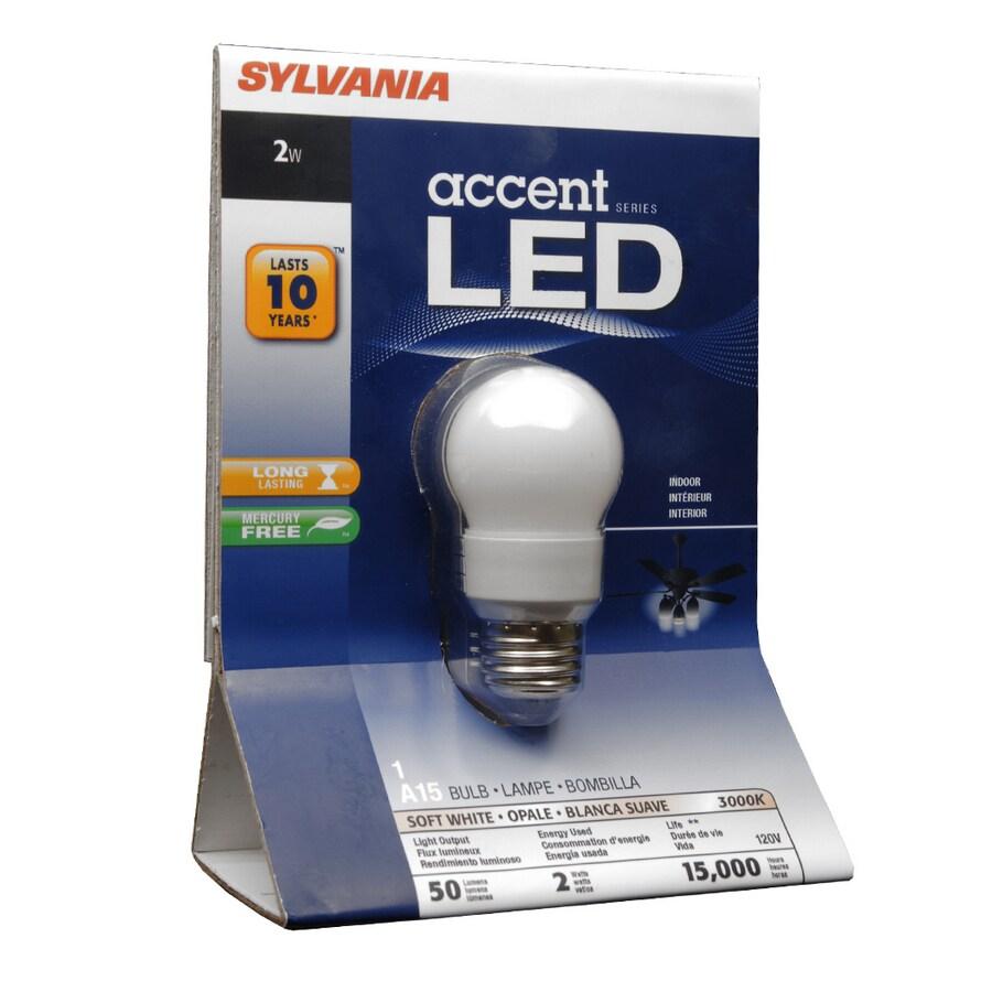 SYLVANIA 2-Watt (10W) A15 Medium Base Soft White (3000K) LED Bulb