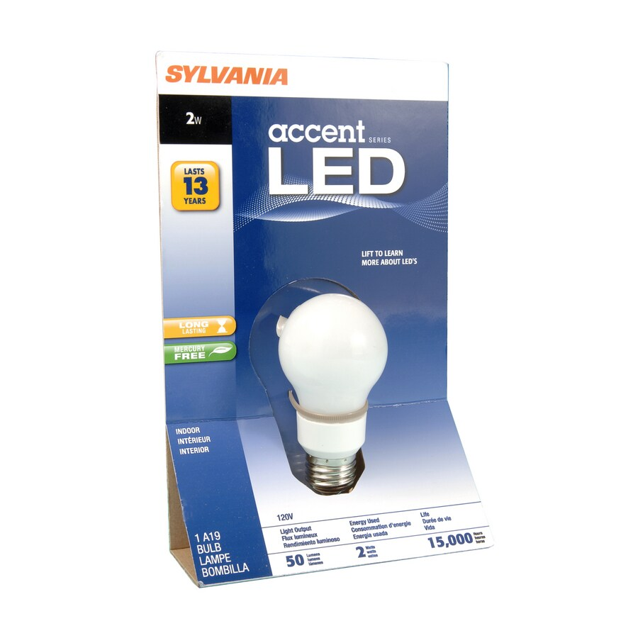 SYLVANIA 2-Watt (10W Equivalent) A19 LED Base Soft White LED Bulb