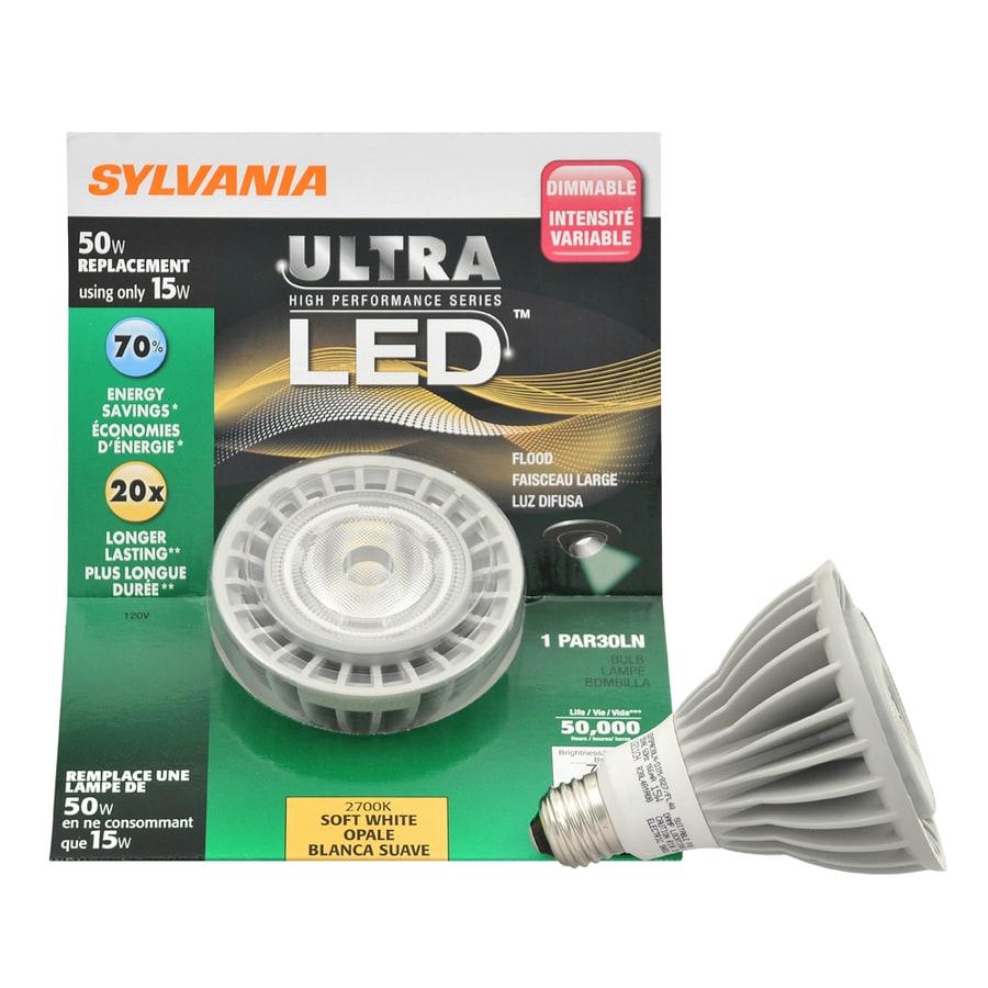 SYLVANIA 15-Watt (50W Equivalent) Par30 Longneck Soft White Outdoor LED Flood Light Bulb ENERGY STAR