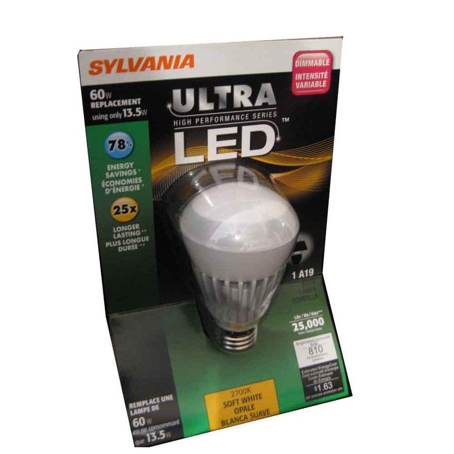 SYLVANIA 13.5-Watt (60W) A19 Medium Base Soft White (2700K) LED Bulb