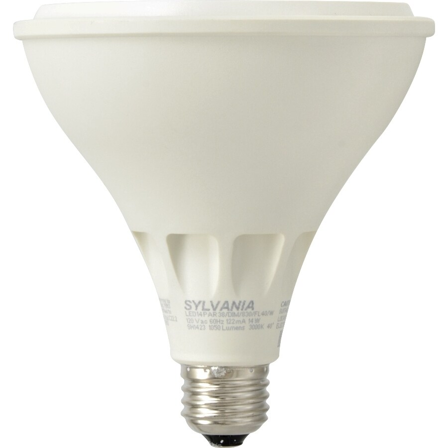 Shop sylvania 90 w equivalent dimmable warm white par38 led flood sylvania 90 w equivalent dimmable warm white par38 led flood light bulb audiocablefo