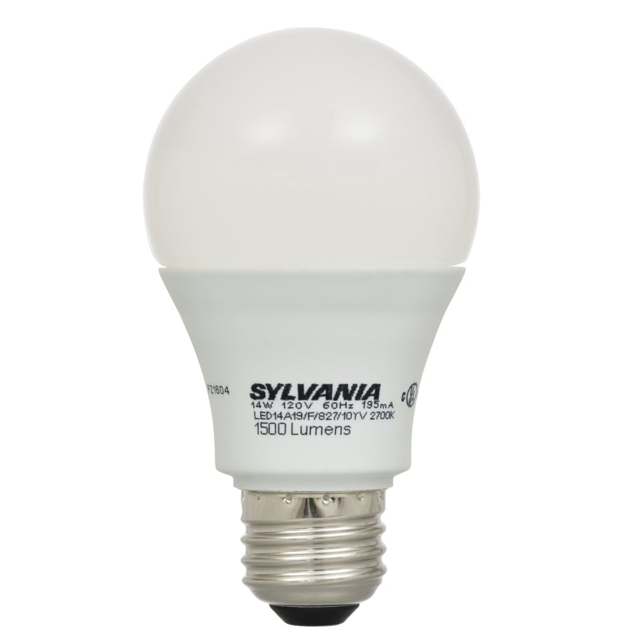 sylvania 100w equivalent soft white a19 led light fixture light bulb. Black Bedroom Furniture Sets. Home Design Ideas